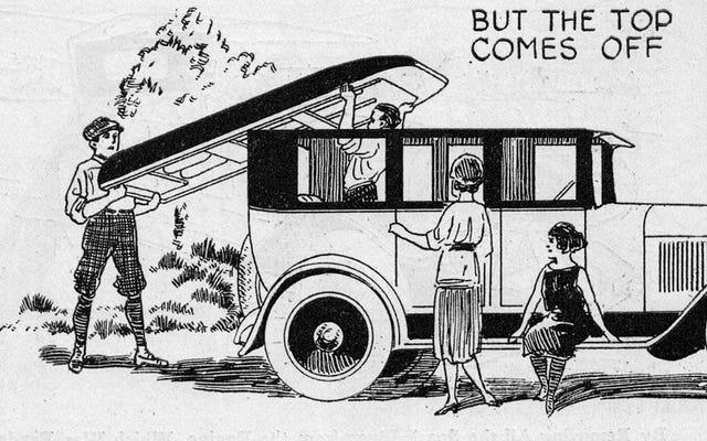 Questa macchina geniale del 1923 si è trasformata in una barca