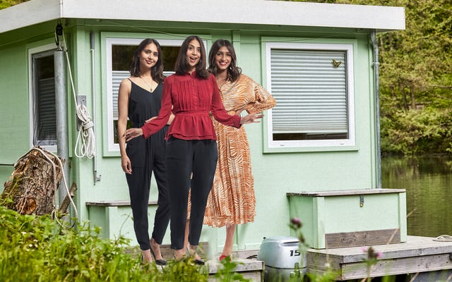 HGTV Exec стонет от удовольствия, узнав о тройняшках, которые переворачивают, обставляют и продают плавучие дома в Каролинах