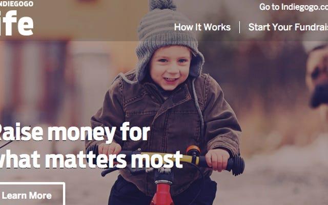 Indiegogo Life Membantu Anda Melakukan Crowdsource untuk Tujuan Pribadi
