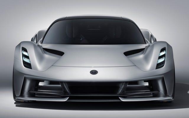 La Lotus Evija EV Hypercar promet près de 2000 chevaux, un look impressionnant