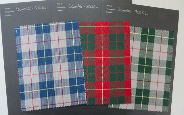 Fornitore originale degli anni '50 della commissione Mercedes per riprodurre il fantastico tessuto del sedile 300 SL