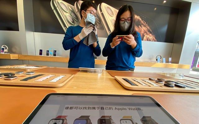 Apple dit aux génies qu'ils risquent de manquer d'iPhone grâce aux arrêts de coronavirus en Chine