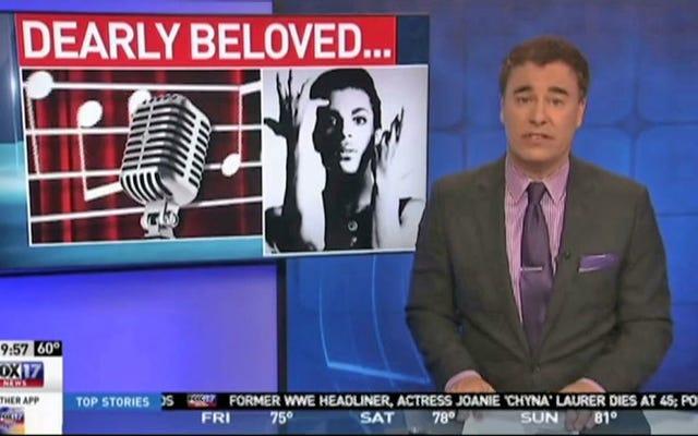 プリンスをテーマにしたスポーツレポートで解雇されたテレビキャスター