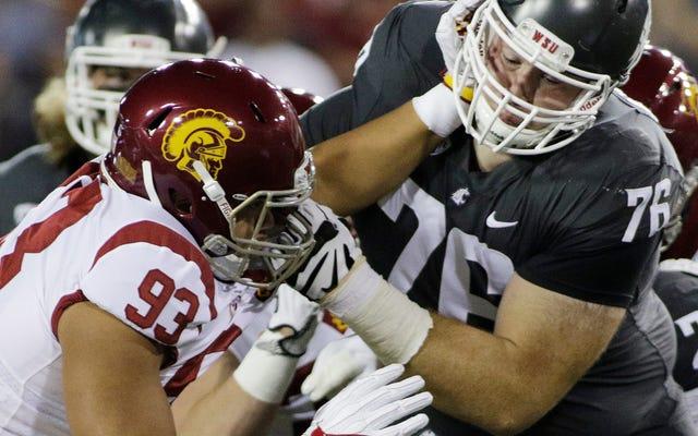 La police recherche des accusations criminelles contre un joueur de l'USC qui a nivelé un fan