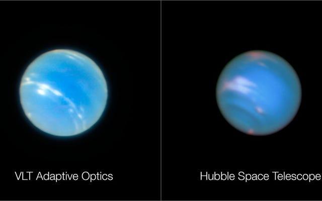 ネプチューンのこれらの写真の1つは、地球の表面から撮影されたものです(ぼやけて見えるものではありません)