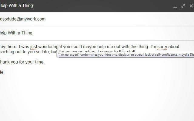 Gmailは申し訳ありませんが、自信を持ってメールを書くのに役立ちます