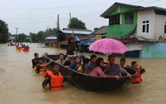 म्यांमार में, पृथ्वी के नवीनतम जलवायु आपदा में 119,000 लोग विस्थापित हुए