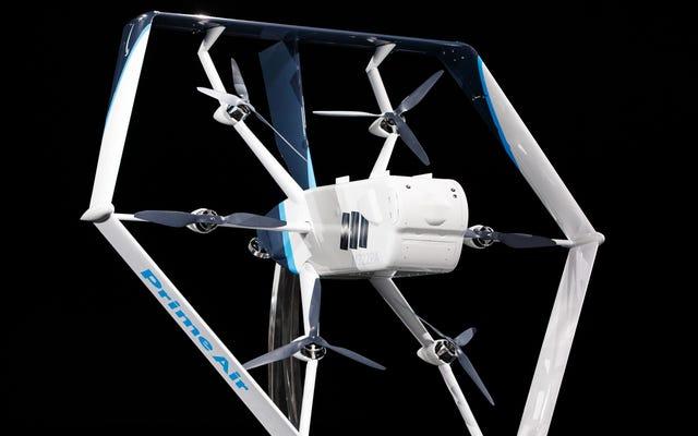 La FAA a autorisé la flotte de drones d'Amazon, nous nous rapprochons donc de l'enfer du commerce