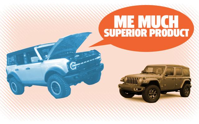 Podobno dyrektor operacyjny Forda już uruchamia Bronco Vs Jeep Gówno-gadające