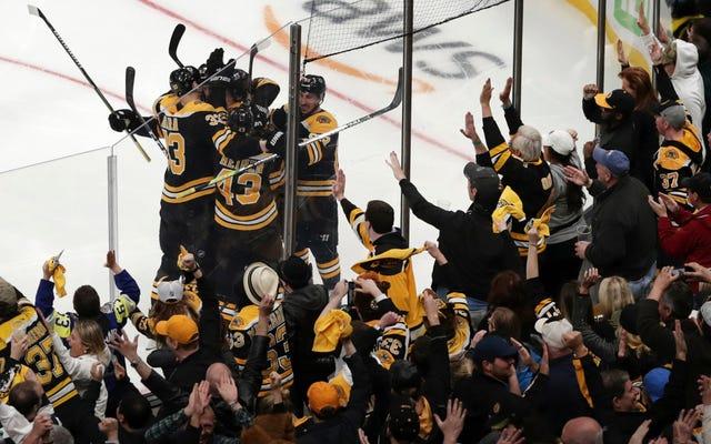 Bruins pokonuje liście w grze 7, ponieważ czas jest zamrożony, a rzeczywistość utknęła w pętli
