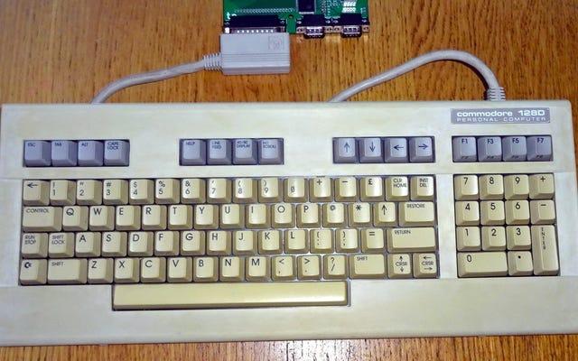 この取り付けが簡単なアダプターで、古いコモドールコンピューターをUSBキーボードに変えましょう