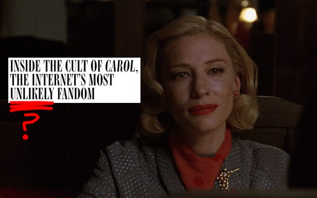 7 GIF Carol qui représentent mes sentiments sur cette pièce tendance de fan de Carol