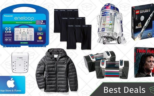 Meilleures offres du mercredi: piles Eneloop, boîte en or Calvin Klein, doudounes et plus