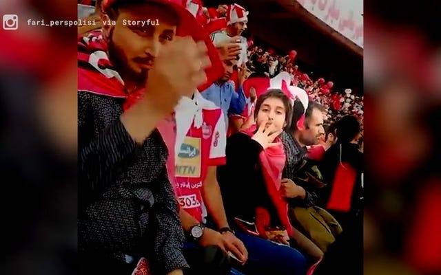 Des femmes iraniennes se déguisent en hommes pour assister à un match de football