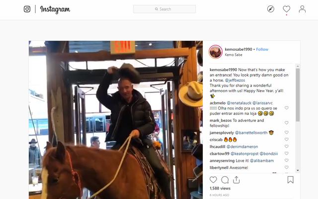 なぜジェフ・ベゾスは馬に乗っているのですか?2018年はもうすぐ終わりますので、ここにいくつかのランダムな推測があります
