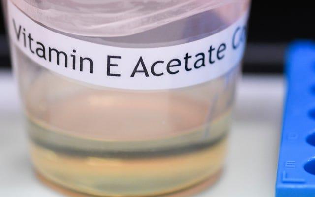 Nous avons maintenant des preuves directes que la vitamine E est à l'origine d'une épidémie de maladie due à la vaporisation