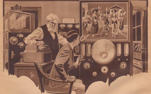 Концепция этого футуристического цветного телевизора 1922 года намного опередила свое время