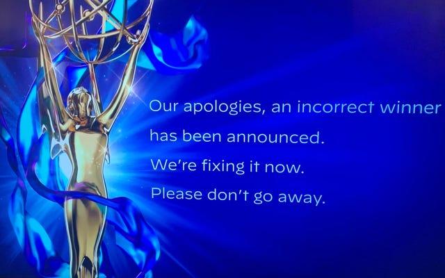 エミー賞は誤ってジェイソンベイトマンにエミー賞を与え、すぐに謝罪してそれを取り戻します