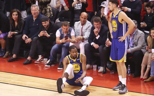 La blessure d'Achille de Kevin Durant ressemble à une mauvaise nouvelle