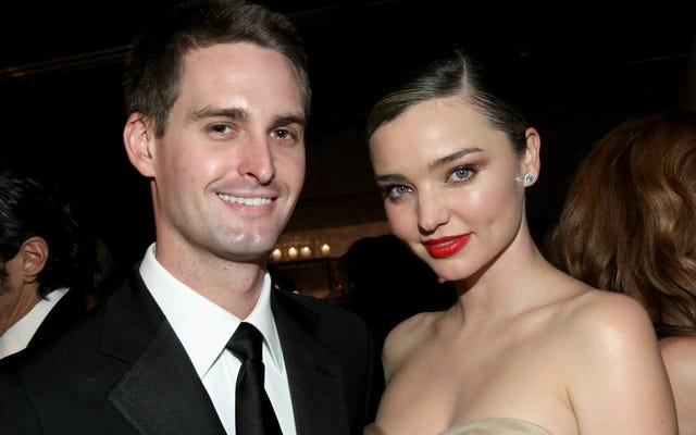 La fiancée du mannequin vedette du PDG de Snap en a marre que Facebook vole les idées de son homme