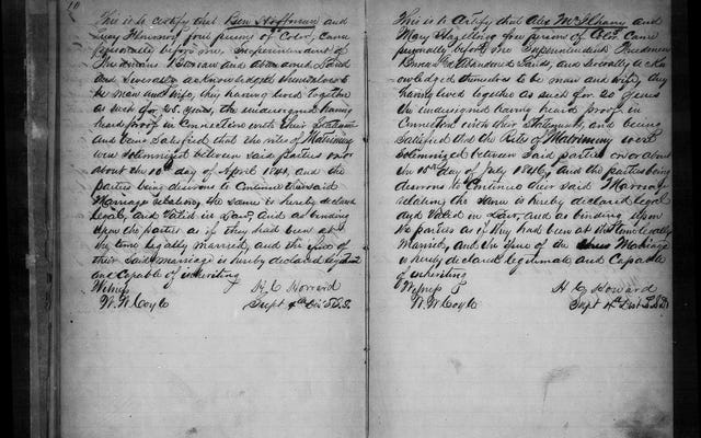 Указывают ли записи Бюро вольноотпущенников на брак моих родственников?