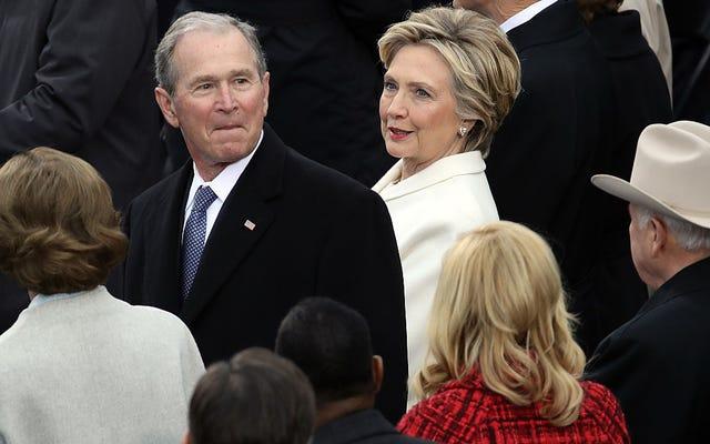 Hillary Clinton asistió a la toma de posesión de Trump