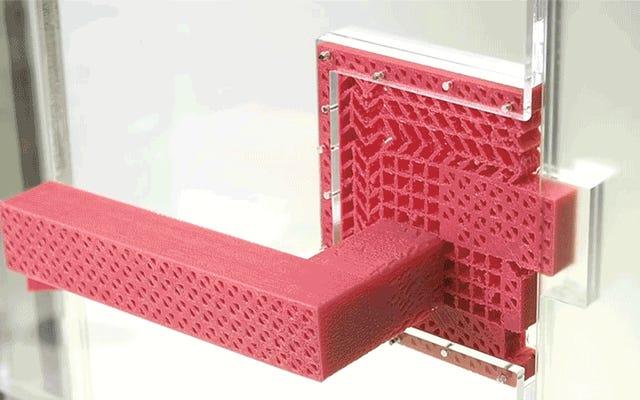 このシンプルな3Dプリントドアハンドルは可動部品なしで機能します