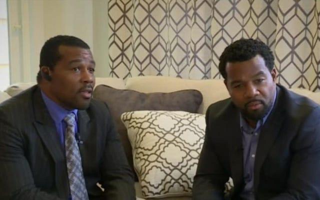 訴訟によると、黒人の双子の兄弟は、自分の家の前で自分のビジネスを考えているために殴打され、窒息し、逮捕されました