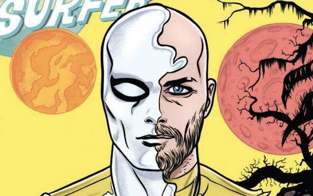 シルバーサーファー#12は、スーパーヒーローのスペクタクルが豊富な心温まるロマンスです。