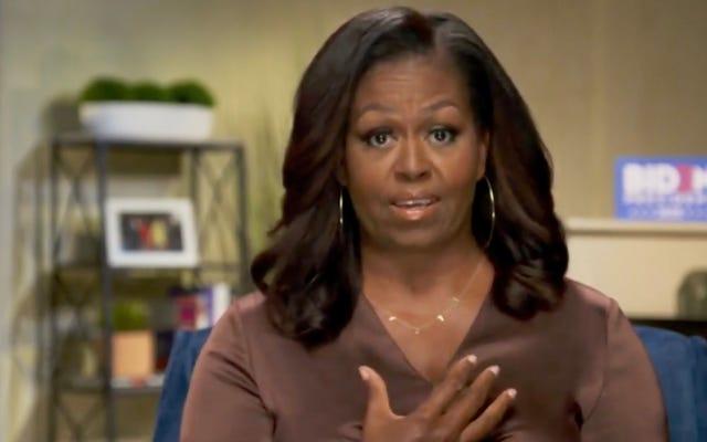 जब वे रॉयल जाओ, हम उच्च जाओ? मिशेल ओबामा ने मेघन और हैरी के बारे में कहा, वह 'क्षमा' के लिए प्रार्थना कर रही है [अपडेट किया गया]