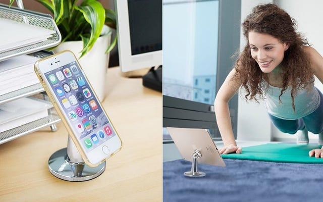 Bu 12 Dolarlık Masa Standı Telefonunuzu Mıknatısların Gücüyle Tutuyor