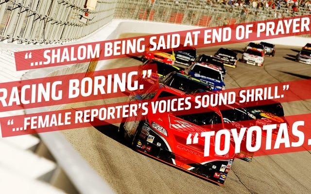 รับสิ่งที่บ้าคลั่งทั้งหมดในไฟล์ร้องเรียนที่รั่วไหลของ NASCAR