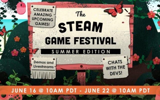 Steamゲームフェスティバルでは、今後のゲームを試すことができます