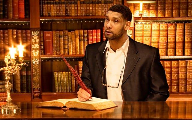 Tim Duncan mapuje genealogię Spurs po tym, jak został zatrudniony jako archiwista zespołu