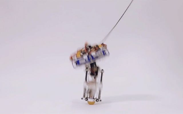 ディズニーはちょうどティガーのようにホップする片足ロボットを発明しました