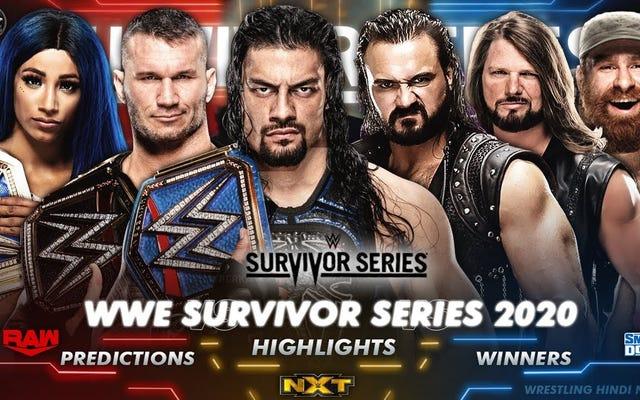 Mùa Survivor Series là mùa tồi tệ nhất