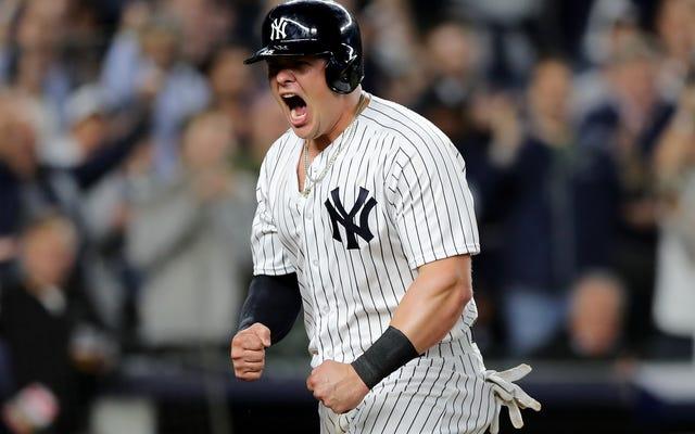 Beefy 야구 소년 Luke Voit는 양키스의 비밀스럽지 않은 무기입니다