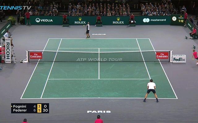 Roger Federer Menempatkan Sajian Ini Langsung ke Tong Sampah