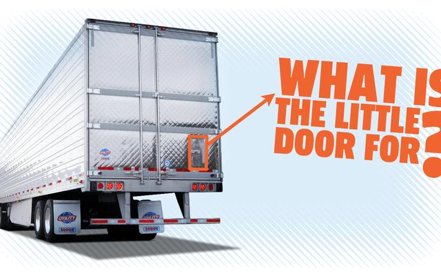 これは、トラックトレーラーの後ろにある小さなドアの目的です