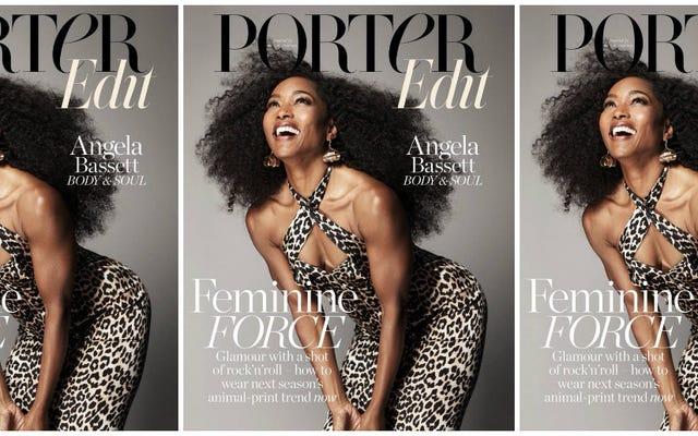 フォーエバーファイン:アンジェラバセットはポーターマガジンの表紙で彼女が永遠にペであることを証明します
