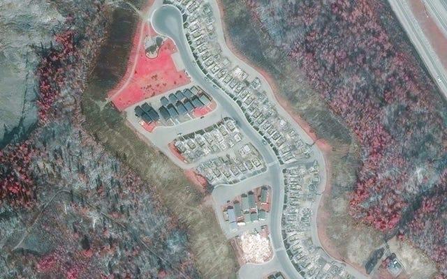 Les images satellites révèlent l'étendue horrible des incendies de forêt en Alberta