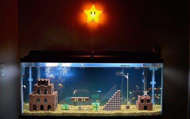 Mira cómo se construye un acuario de Super Mario Bros. desde cero