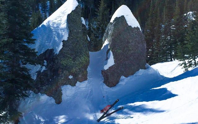 Ma première fois sur les pistes en 16 ans, j'ai skié dans l'arrière-pays