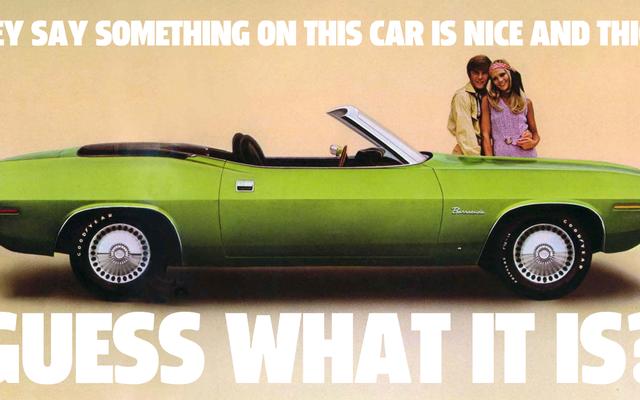 Este folleto del Plymouth Barracuda de 1970 es una de las afirmaciones más extrañas que he visto