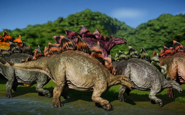 แฟน ๆ Jurassic World Evolution กำลังสนุกกับเกมด้วย Stegosauruses