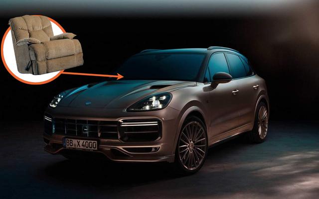 TechArt se asoció con un fabricante de sofás para su kit de ajuste Porsche y parece un sofá