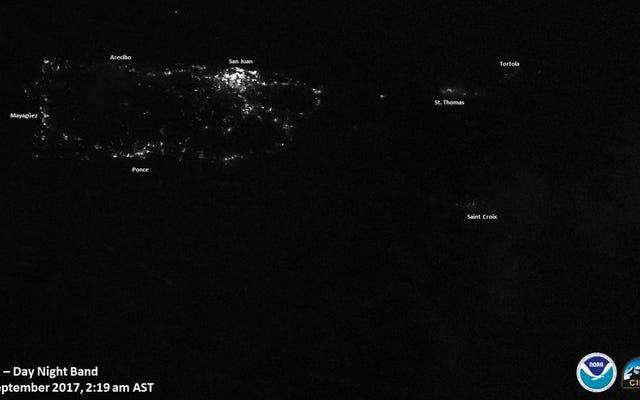 Puerto Rico rimane per lo più all'oscuro e ha un disperato bisogno di aiuti