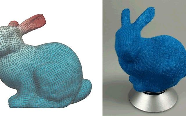 研究者たちは、3Dモデルをかわいいニットのおもちゃに変える方法を考え出しました