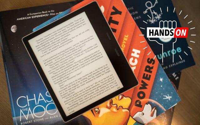 Nowa oaza Kindle firmy Amazon: łatwiejsza dla oczu, nadal ból dla portfela
