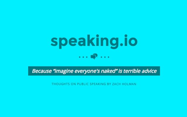 Speaking.ioは、完璧な人前でのスピーチを作成するためのクラッシュコースです
